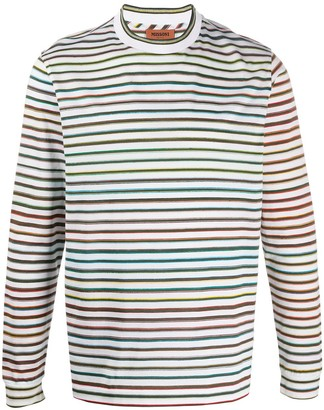 Missoni Striped Long-Sleeve Top