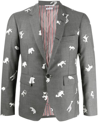 Thom Browne Animal Pattern Blazer