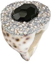 Mesi Jilly Cowrie Shell W Onyx, Santorini Ring