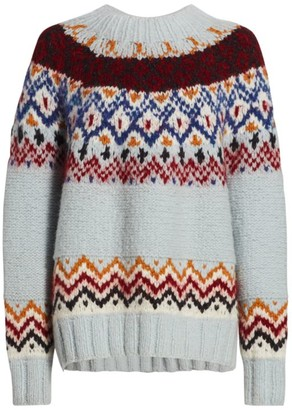 Rachel Comey Ballo Fair Isle Wool Sweater