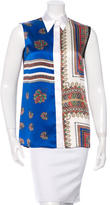 Givenchy Silk Scarf Print Top w/ Tags