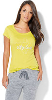 "New York & Co. Lounge - Dazzling ""City Love"" Graphic Logo Tee"