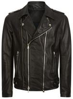 Balmain Double Zip Leather Jacket