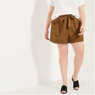 Joe Fresh Women+ Utility Shorts, Brown (Size 2X)