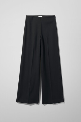 Weekday Julia Twill Trousers - Black