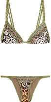 Camilla International El Duende Embellished Printed Bikini - Mint