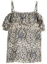 Thumbnail for your product : Figue Tamara Spaghetti Strap Ruffle Top