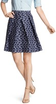 Draper James Harpeth Jacquard Mid Length Skirt