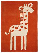 John Lewis Children's Giraffe Rug, Orange