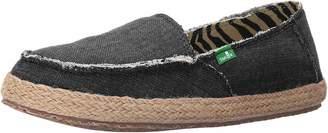 Sanuk Women's Fiona Charcoal Sneaker 5 B Medium