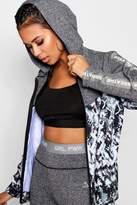 boohoo Lola Fit 'Breathe' Slogan Gym Jacket