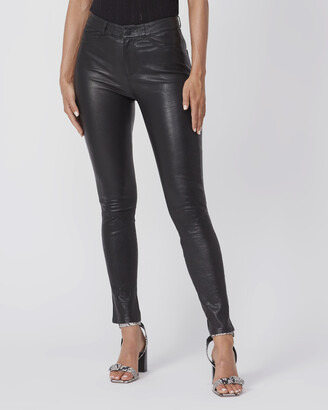 Paige Hoxton Stretch Leather Pant-Black