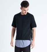 Shades of Grey by Micah Cohen Navy Slub S/S Sweater