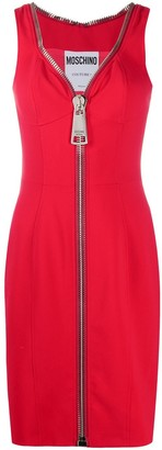 Moschino Zip-Up Cocktail Dress