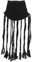 Yohji Yamamoto fringed collar scarf