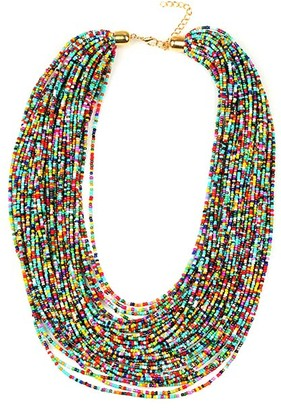 Eye Candy La Eye Candy LA Women's Necklaces MULTI - Rainbow Sparkly String Layered Necklace