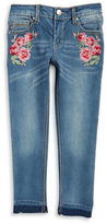 Vigoss Girls 7-16 Floral Embroidered Jeans