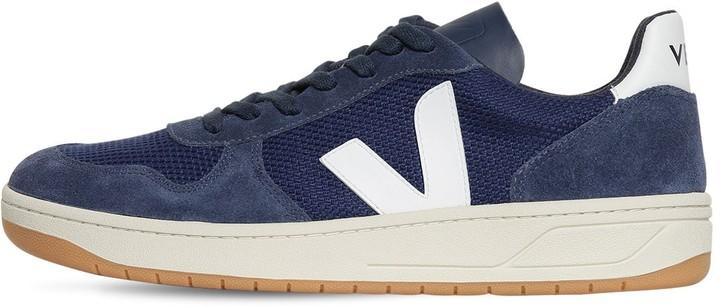 Veja 20mm V-10 Suede & Mesh Sneakers