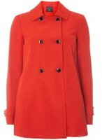 Dorothy Perkins Womens Red Double Breasted Swing Coat- Red