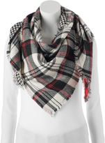 Candies Candie's® Plaid & Houndstooth Patchwork Triangle Scarf