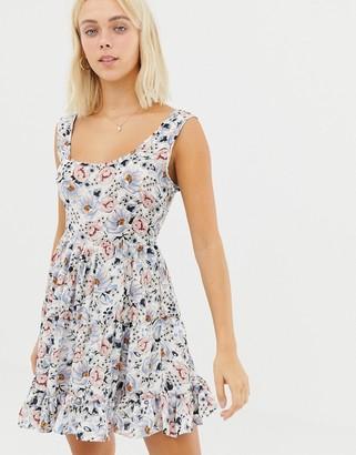 Glamorous floral dress-White