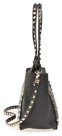 Valentino 'Mini Rockstud' Leather Tote