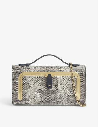 Anya Hindmarch Snake-print mini postbox bag