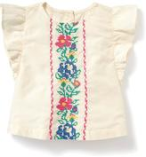 Old Navy Embroidered Flutter-Sleeve Top for Baby