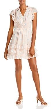 Rebecca Taylor Floral Print Ruffled Dress