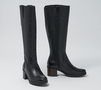 Clarks Collection Wide Calf Tall Leather Boots - Hollis Moon