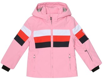 Bogner Kids Cessy striped ski jacket