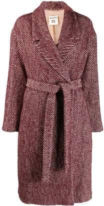 Semi-Couture Semicouture herringbone coat