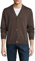 Toscano Men's Wool Solid Cardigan