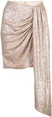 Jonathan Simkhai sequined draped-detail skirt