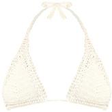 She Made Me Essential Sliding crochet triangle bikini top