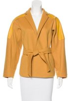 Max Mara Wool & Angora-Blend Leather-Trimmed Jacket