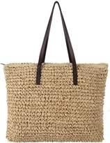 YallFairy Women's Classic Straw Summer Beach Sea Shoulder Bag Handbag Tote
