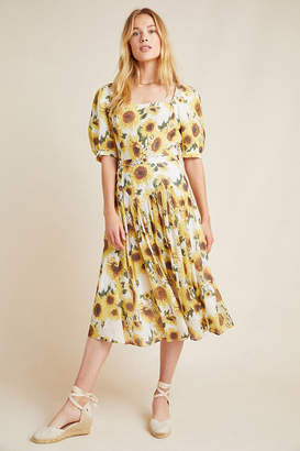 Tracy Reese Hope For Flowers By Sunflower Linen Midi Skirt