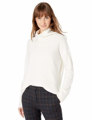 Lark & Ro Amazon Brand Women's Boucle Exaggerated Neck Sweater