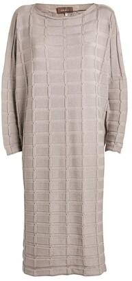 eskandar Cashmere-Silk Textured Dress