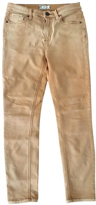 Free People Camel Cotton - elasthane Jeans