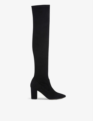 LK Bennett Zira over-the-knee stretch-suede boots