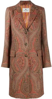 Etro Paisley-Print Midi Coat