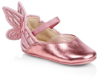 Sophia Webster Baby Girl's Chiara Butterfly Metallic Flats