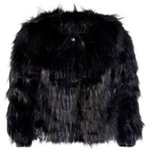 Chloé Navy Faux Fur Jacket