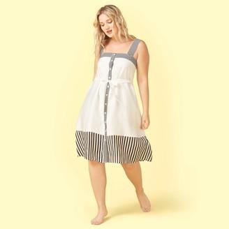 Summersalt The Globetrotter Dress - Sea Urchin & White Sand