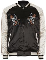 Topman Embroidered Reversible Souvenir Bomber Jacket