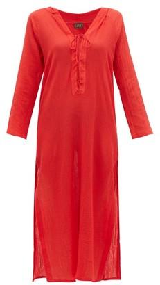 ALBUS LUMEN Aziza Cotton-gauze Hooded Dress - Red