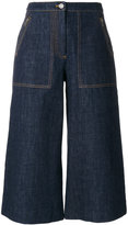Kenzo cropped denim culottes - women - Cotton - 34