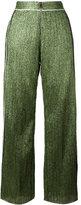 Aviu wide-legged glittery trousers